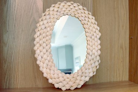 Oval Shell Mirror