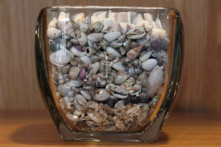 Shell-Filled Votive Candle