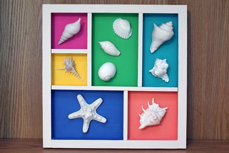 Shell Wall Collage