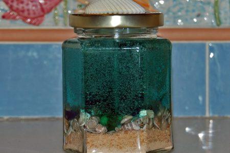 Caribbean Aqua Hexagonal Scented Candle