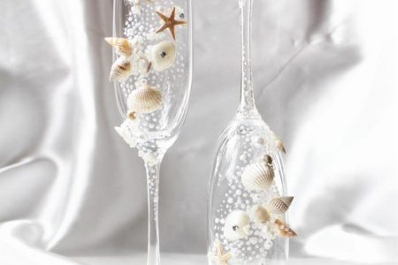 Shell Champagne Wedding Glasses-1